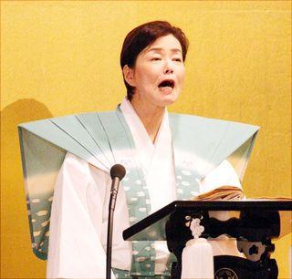 義太夫語り 情感豊か 阿波人形浄瑠璃大会に友和嘉さん出演