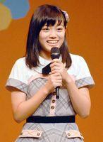 AKB48チーム8の新たな徳島代表に選ばれデビューを果たした春本さん=10日、徳島市のアスティとくしま