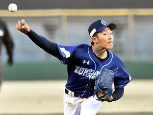 6回1失点で初勝利を挙げた徳島の伊藤翔=JAバンク徳島スタジアム