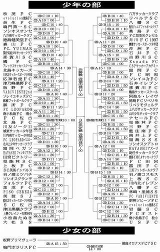 徳島県サッカー少年団大会 試合日程決まる
