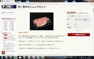 ふるさと納税の仲介サイトに掲載されている那賀町の返礼品。写真は町外産の牛肉だけだ