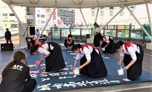 えきまえおトクしまがっこうの会場の一つとなるアミコドーム=徳島駅前
