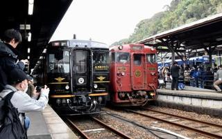 南九州の6観光列車が集合、熊本