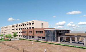 阿南光高の宝田キャンパスに建設される新校舎の完成予想図(県教委提供)