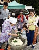 棚田オーナーら地元料理に舌鼓 上勝で収穫祭