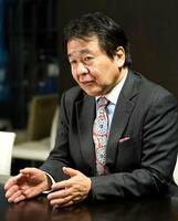 インタビューに応じる慶応大名誉教授の竹中平蔵氏