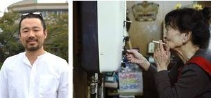 【右】映画「神山アローン」の一場面【左】長岡マイルさん
