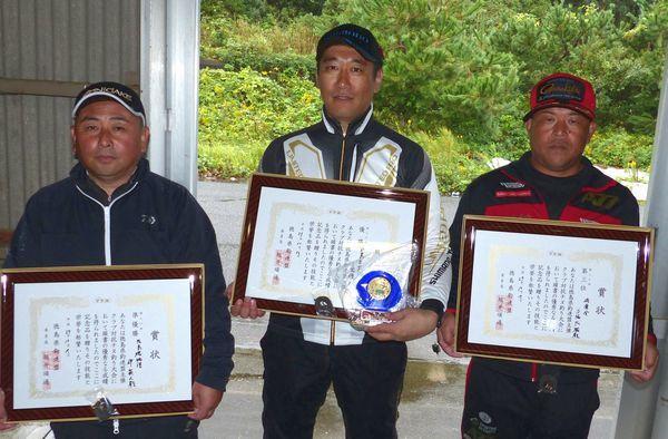 県釣連盟チヌ釣り大会2回目入賞者の皆さん