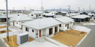 震災の災害住宅整備完了、宮城