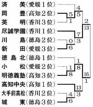 秋季四国高校野球 尽誠学園・明徳義塾が決勝に進出