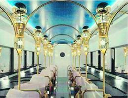 JR四国が高知で走らせる観光列車の2号車の車内イメージ