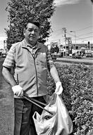 清掃奉仕続け16年 徳島市の井上さん 朝の日課で自…