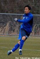J2徳島への加入が決まったMF狩野健太=3月、徳島スポーツビレッジ