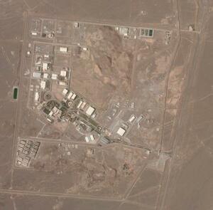 イラン・ナタンズの核施設の衛星写真=7日(プラネット・ラボ提供、AP=共同)