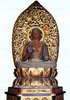 国指定重要文化財の木造薬師如来坐像(石井町提供)