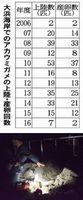 産卵するアカウミガメ=6月2日、美波町日和佐浦の大浜海岸