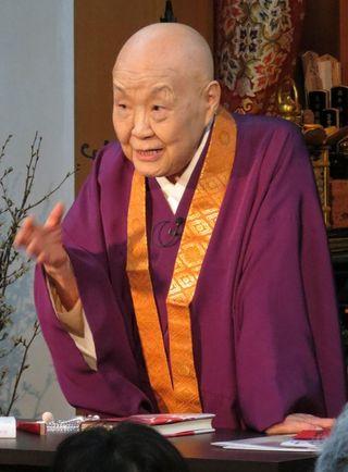 「一人の時こそ慎み生きよう」 寂聴さん、京都で法話