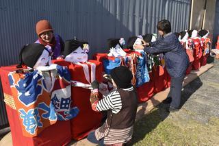 人形が沿道で盛り上げ 徳島・勝浦町「ビッグひな祭り」