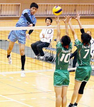 男子は城東と徳島科技、女子は城南と富岡東が決勝進出 全日本高校バレー徳島県予選