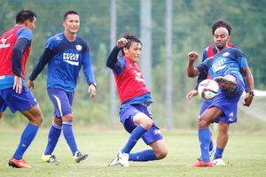 C大阪戦での勝利を目指し練習に励む徳島の選手たち=徳島スポーツビレッジ