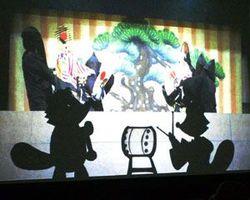 人形浄瑠璃と影絵を組み合わせた映像作品=徳島市の阿波十郎兵衛屋敷