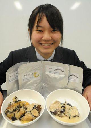 規格外の魚をレトルト食品に 徳島科技高生8種類