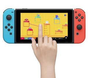 任天堂が発売する「ナビつき! つくってわかる はじめてゲームプログラミング」の画面