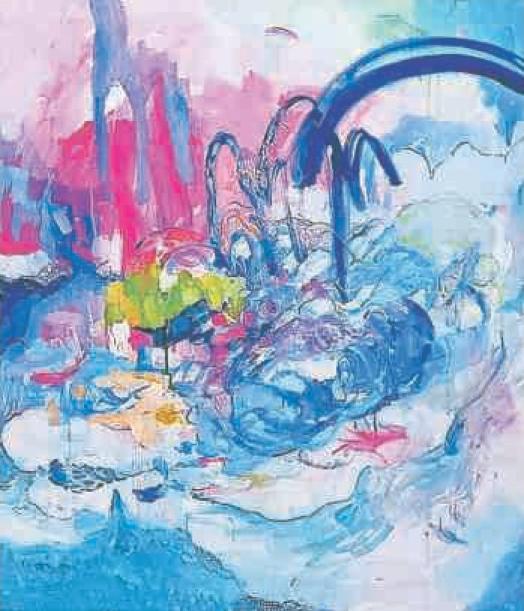 仏アートフェアに洋画出品 福田遼子さん(徳島市)、「生命」テーマに2作品