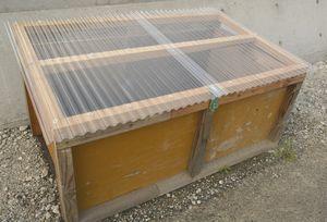 生ごみ処理に使う木製コンポストの実験用モデル=佐那河内村下