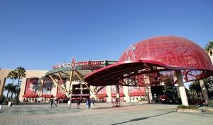 米大リーグ、エンゼルスの本拠地、エンゼルスタジアム=アナハイム(共同)