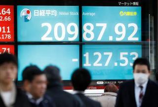 東証、9カ月ぶり2万1千円割れ