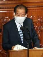 衆院本会議で代表質問する二階俊博氏(自民党・無所属の会)