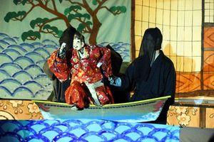 秋祭りの宵宮で披露された「恵比須舞」=那賀町坂州の坂州八幡神社