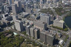 霞が関の官庁街(右奥は国会議事堂)