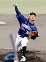 8回を無失点に抑えた徳島の松本=JAバンク徳島スタジアム