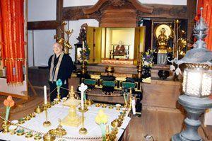 正月御影供が行われる大日寺の大師堂=板野町黒谷