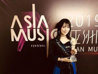 "May'nが日本人初の快挙 『2019 ASIAN MUSIC FESTIVAL』で""年度最具突破女歌手賞""受賞"
