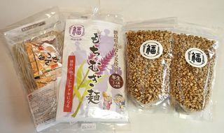 徳島県阿波市の福井園芸が「もちむぎ麺」と「ポン菓子」を商品化