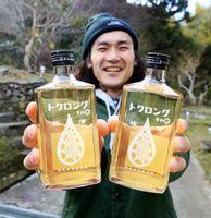 なると金時の芋焼酎で造った梅酒=吉野川市美郷