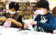立体型マスク手作り 石井で手芸店が「教室」