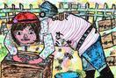 ミツバチの一枚画コンクール 徳島県内2児童が第3席