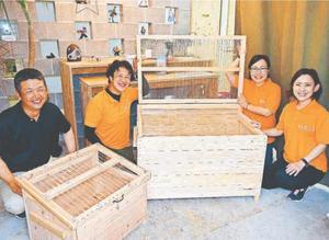 「キラニコベース」が製造・販売を始めた生ごみ分解処理容器「キエーロ」=徳島市末広2