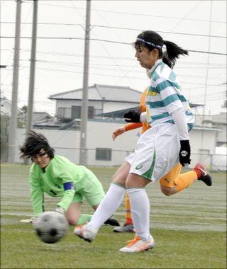 鳴門渦潮が7度目頂点 徳島県高校新人女子サッカー