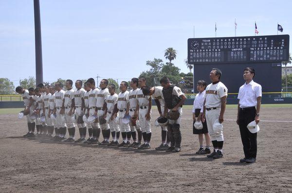 夏の徳島大会準決勝で敗れた富岡西=昨年7月、鳴門オロナミンC球場