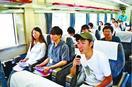 Uターン就職考えて 徳島県、列車内で若者セミナー