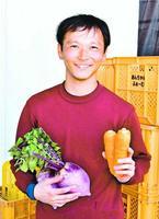 茨城県からIターンして就農した安崎慶太さん