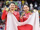 【リオ五輪】松友・高橋組、逆転で金メダル バド女子複