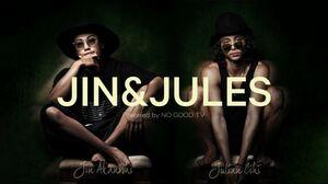 Hulu独占配信番組『JIN & JULES Powered by NO GOOD TV』に出演する(左から)赤西仁、Julian Cihi(=JULES) (C)JIN & JULES Powered by NO GOOD TV
