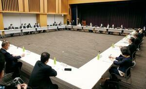 新型コロナの基本的対処方針分科会=7日午前、東京・永田町