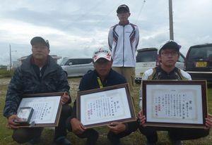 県釣連盟チヌ釣り大会1回目の入賞者の皆さん